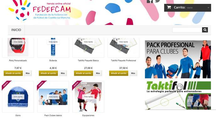 FEDEFCAM aprovechó el día institucional del Fútbol de Castilla La Mancha  para presentar su nueva tienda on-line 848f223d7f45c